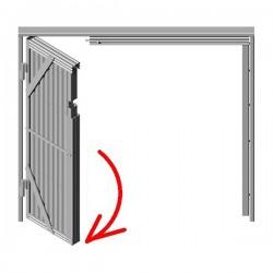 Rejas de ballesta de una hoja-apertura izquierda