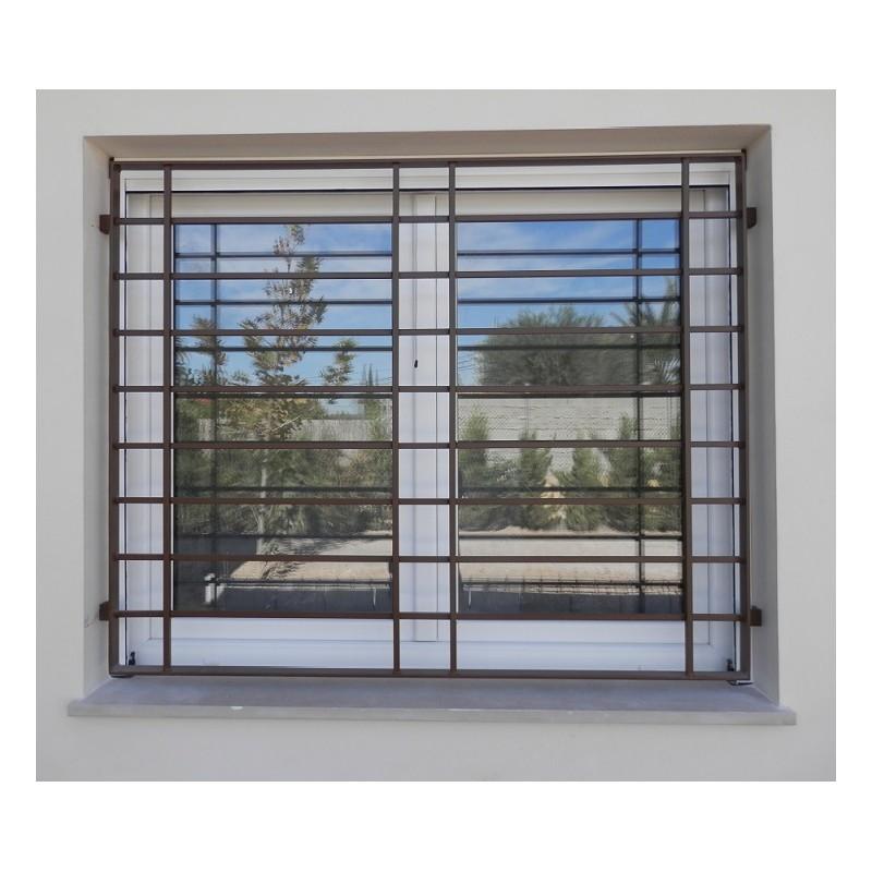 Rejas fijas modernas modelo horizontal rejas de seguridad for Rejas para puertas exteriores modernas