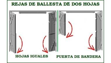 REJAS DE BALLESTA DE DOS HOJAS