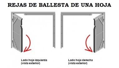 REJAS DE BALLESTA DE UNA HOJA